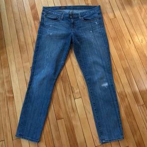 J.Crew Toothpick Ankle Light Wash Jeans